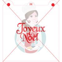 Stencil ''Joyeux Noël'' - 2 by Maman Gato & Cie