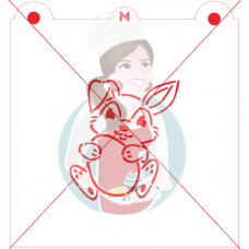 Stencil Bunny and Egg Paint Your Own by Maman Gato & Cie