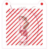 Stencil Pattern 0.1'' Diagonal Lines by Maman Gato & Cie