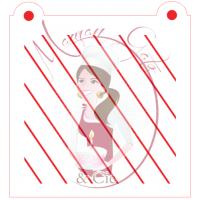 Stencil Pattern  Harlequin Diagonal Lines by Maman Gato & Cie