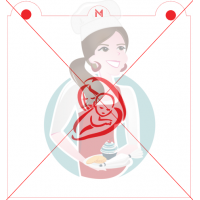 Stencil Mother Holding Child Silhouette by Maman Gato & Cie