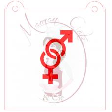 Stencil Male Female by Maman Gato & Cie