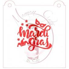 Stencil ''Mardi Gras'' by Maman Gato & Cie
