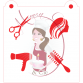 Stencil Hairdresser Medley by Maman Gato & Cie