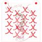 Stencil Pattern Hockey Sticks by Maman Gato & Cie