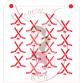 Stencil Pattern Hockey Sticks and Puck by Maman Gato & Cie