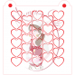 Stencil Pattern - Heart Outline by Maman Gato & Cie