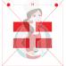 Stencil Lyli Flower - Quebec Flag - 2 pcs by Maman Gato & Cie