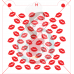 Stencil Lips Pattern by Maman Gato & Cie