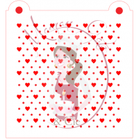 Stencil Pattern - Mini Heart and Dots by Maman Gato & Cie