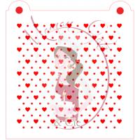 Stencil Pattern - Mini Heart and Dots by Maman Gato & Cie