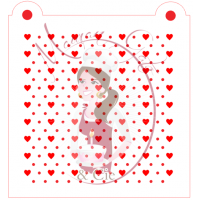 Stencil Pattern - Mini Heart and Dots 2 by Maman Gato & Cie