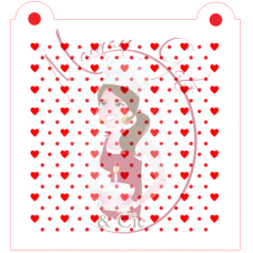 Stencil Pattern - Mini Heart and Dots 2 by Maman Gato & Cie