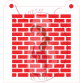 Stencil Pattern Brick Wall by Maman Gato & Cie