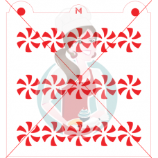 Stencil Pattern Peppermint Row by Maman Gato & Cie