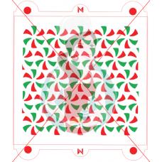 Stencil Pattern Peppermint Flip Flop by Maman Gato & Cie