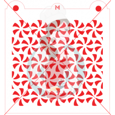 Stencil Pattern Peppermint by Maman Gato & Cie