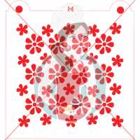 Stencil Pattern Flower Power by Maman Gato & Cie