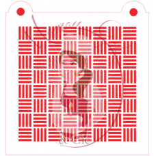 Stencil Pattern Basketweave by Maman Gato & Cie