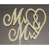 Cake Topper Mr & Mrs by Maman Gato & Cie