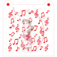 Stencil Pattern Music Notes by Maman Gato & Cie