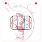 Stencil Hockey Rink 3 Pieces by Maman Gato & Cie