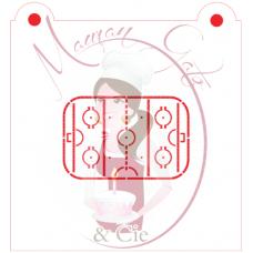 Stencil Hockey Rink by Maman Gato & Cie