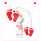Stencil Baby Feet by Maman Gato & Cie