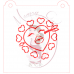 Stencil Kissing Heart Paint Your Own by Maman Gato & Cie