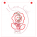 Stencil Smiley Flower Paint Your Own by Maman Gato & Cie