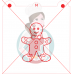 Stencil Gingerbread Boy Paint Your Own by Maman Gato & Cie