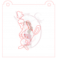 Stencil Bunny with Carrot Balloon Paint Your Own by Maman Gato & Cie
