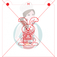 Stencil Rabbit and Egg Paint Your Own by Maman Gato & Cie
