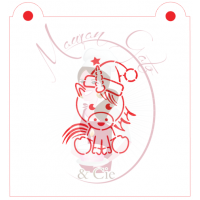 Stencil Christmas Unicorn Paint Your Own by Maman Gato & Cie