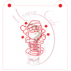 Stencil Santa's in the Chimney Paint Your Own by Maman Gato & Cie