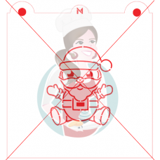 Stencil Santa Claus Paint Your Own by Maman Gato & Cie