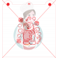 Stencil Gingerbread Boy with Candies Paint Your Own by Maman Gato & Cie