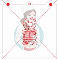Stencil Gingerbread Girl Paint Your Own by Maman Gato & Cie