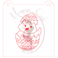 Stencil Chick in Egg Paint Your Own by Maman Gato & Cie