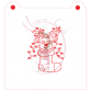 Stencil Reindeer in Christmas Stocking Paint Your Own by Maman Gato & Cie