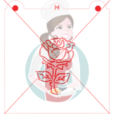 Stencil Rose Paint Your Own by Maman Gato & Cie