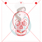 Stencil Skull Head Paint Your Own by Maman Gato & Cie