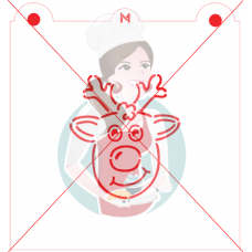 Stencil Rudolph Reindeer Paint Your Own by Maman Gato & Cie