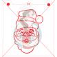 Stencil Santa Claus Paint Your Own by Maman Gato & Cie