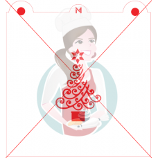 Stencil Christmas Tree - Waves -  by Maman Gato & Cie