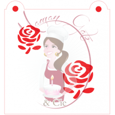 Stencil Roses - 2 Sizes - by Maman Gato & Cie