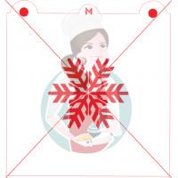 Stencil Snowflake 1 by Maman Gato & Cie