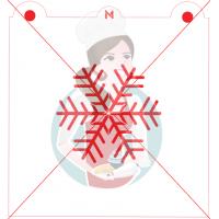 Stencil Snowflake 2 by Maman Gato & Cie