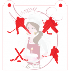 Stencil Hockey Silhouette Mix by Maman Gato & Cie