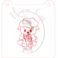 Stencil Lamb Paint Your Own by Maman Gato & Cie